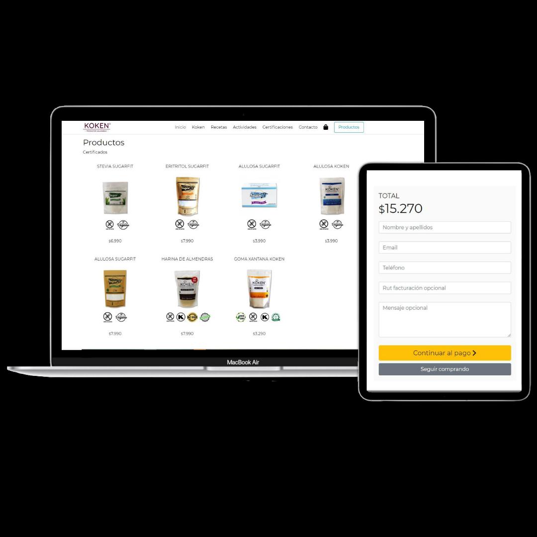 Página Webpay Tienda